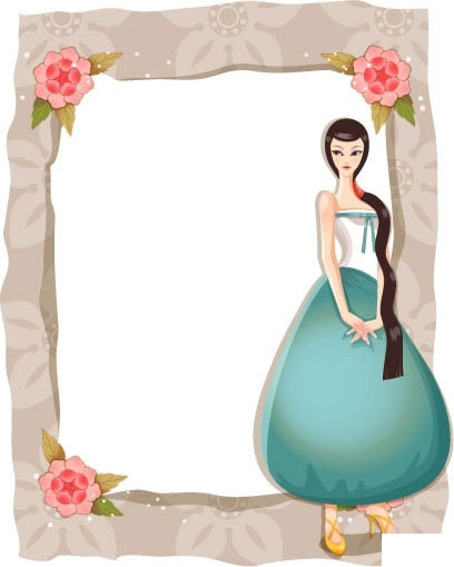 free vector Classic beauty classic flower borders series 1 11p