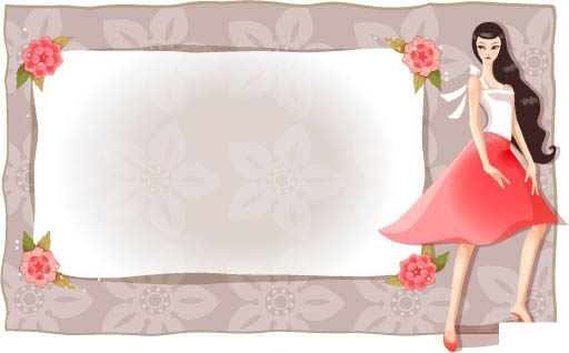 free vector Classic beauty classic flower borders series 3 11p