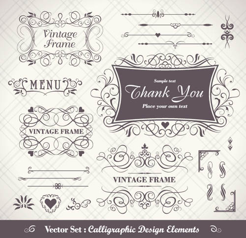 free vector Classic border pattern vector