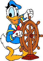 free vector Classic cartoon style clip art image of donald duck
