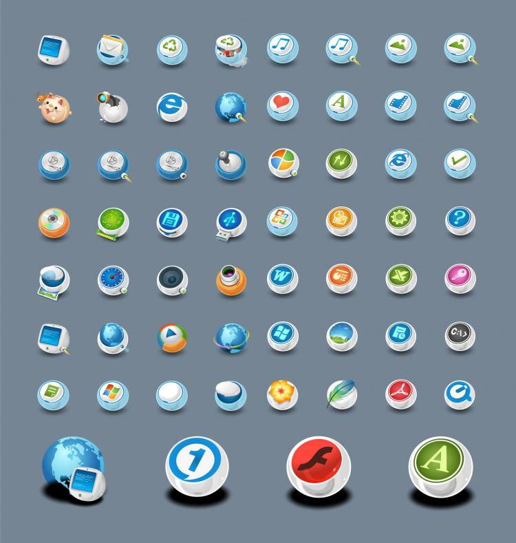 free vector Classic circular icon in the system