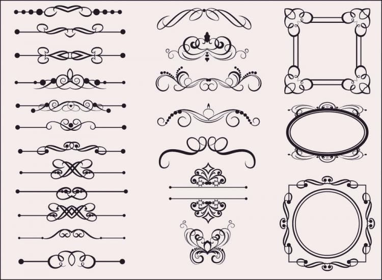 free vector Classic european pattern 06 vector