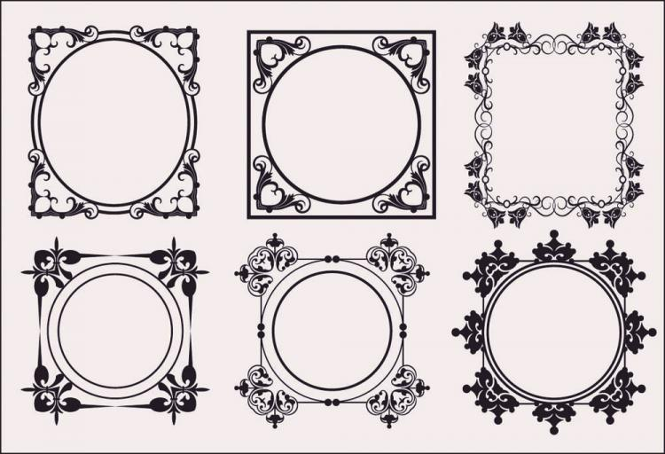 free vector Classic european pattern 08 vector