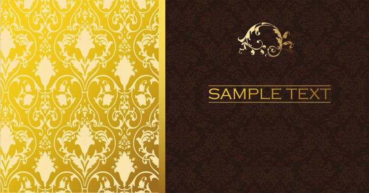 free vector Classic european pattern background vector