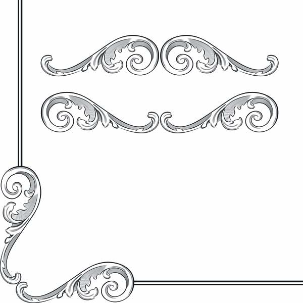 free vector Classic european security border pattern 01 vector
