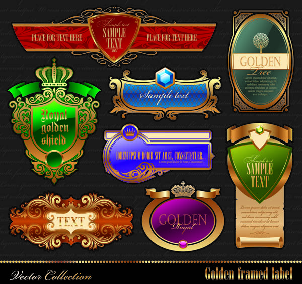 free vector Classic europeanstyle bottle label affixed border vector
