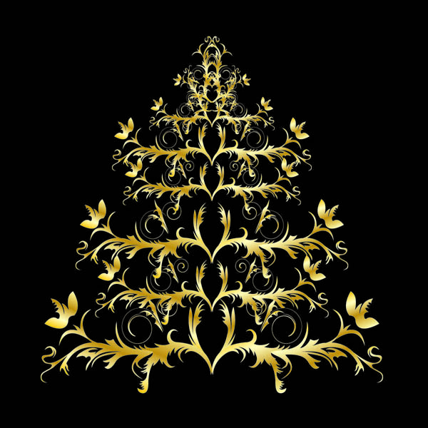 free vector Classic europeanstyle christmas tree pattern vector