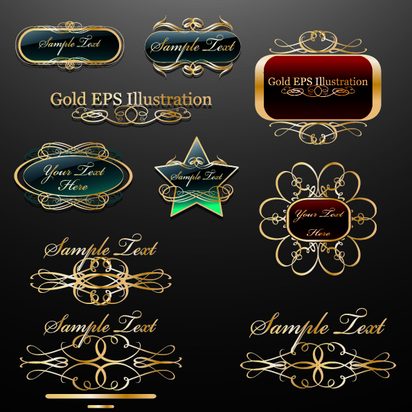 free vector Classic europeanstyle labels logos vector