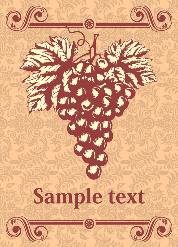 free vector Classic europeanstyle wine bottle stickers vector