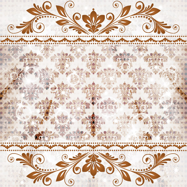 free vector Classic lace pattern 01 vector