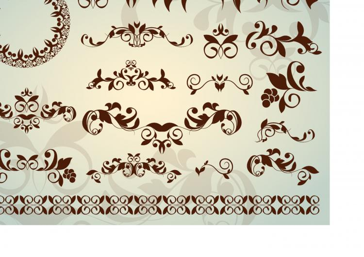 free vector Classic lace pattern 02 vector