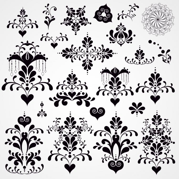 Classic Lace Pattern 07 Vector Free 4Vector