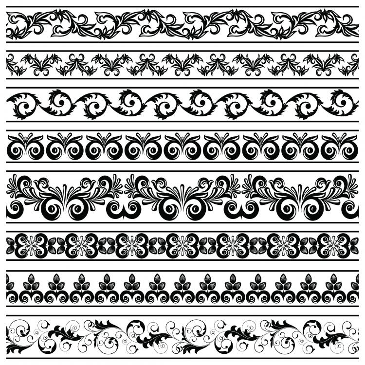 Classic lace pattern 08 vector free vector 4vector for Chocolate lace template