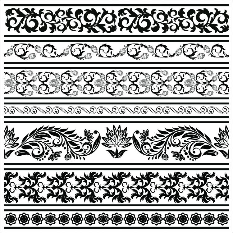 free vector Classic lace pattern 09 vector 22466