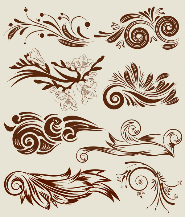 free vector Classic lace pattern vector