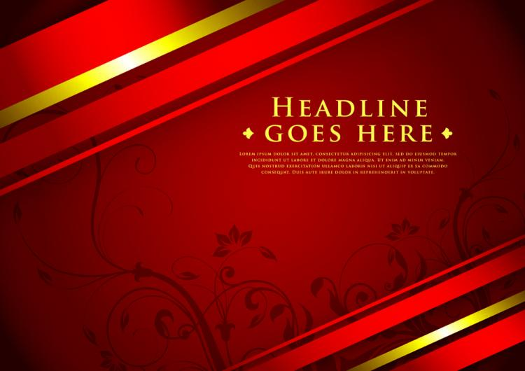 free vector Classic luxury red background 04 vector