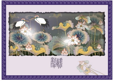 free vector Classic painting flowers the lower part 7p