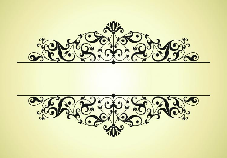 free vector Classic pattern border 01 vector
