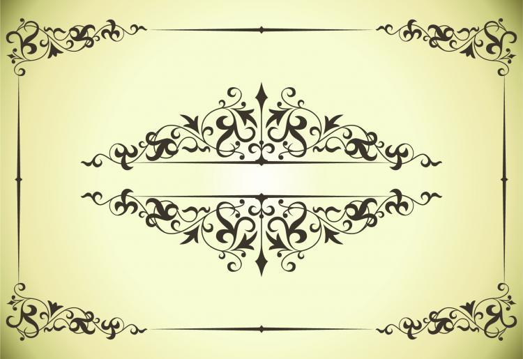 Classic pattern border 04 vector Free Vector / 4Vector