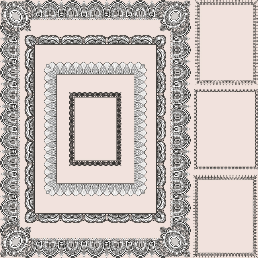 free vector Classic pattern framework 01 vector