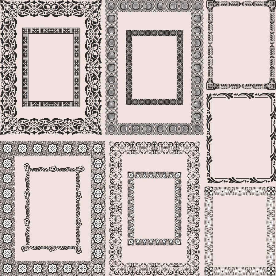 free vector Classic pattern framework 05 vector