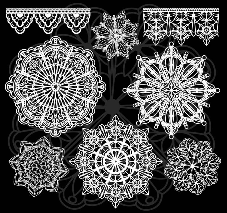 free vector Classic pattern shading 04 vector