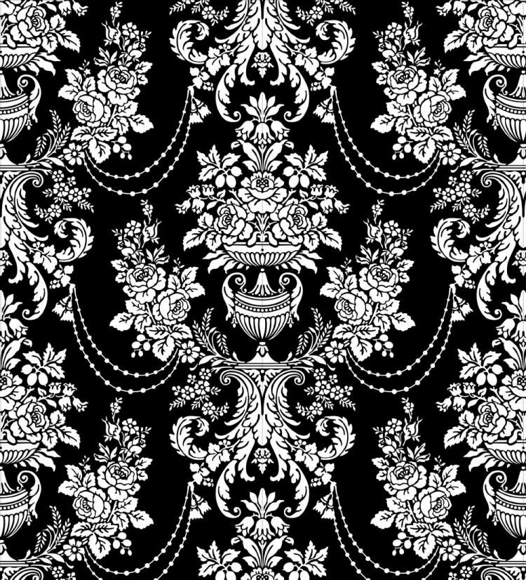 Classic Traditional Black And White Pattern 02 Vector Free