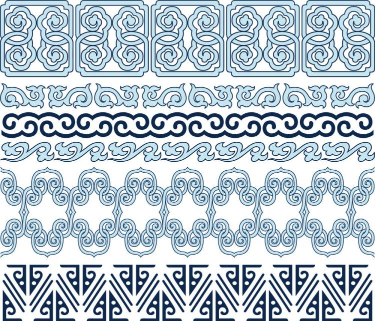 free vector Classic traditional pattern lace 05 vector