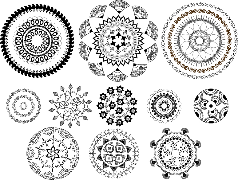 free vector Classic traditional pattern vector