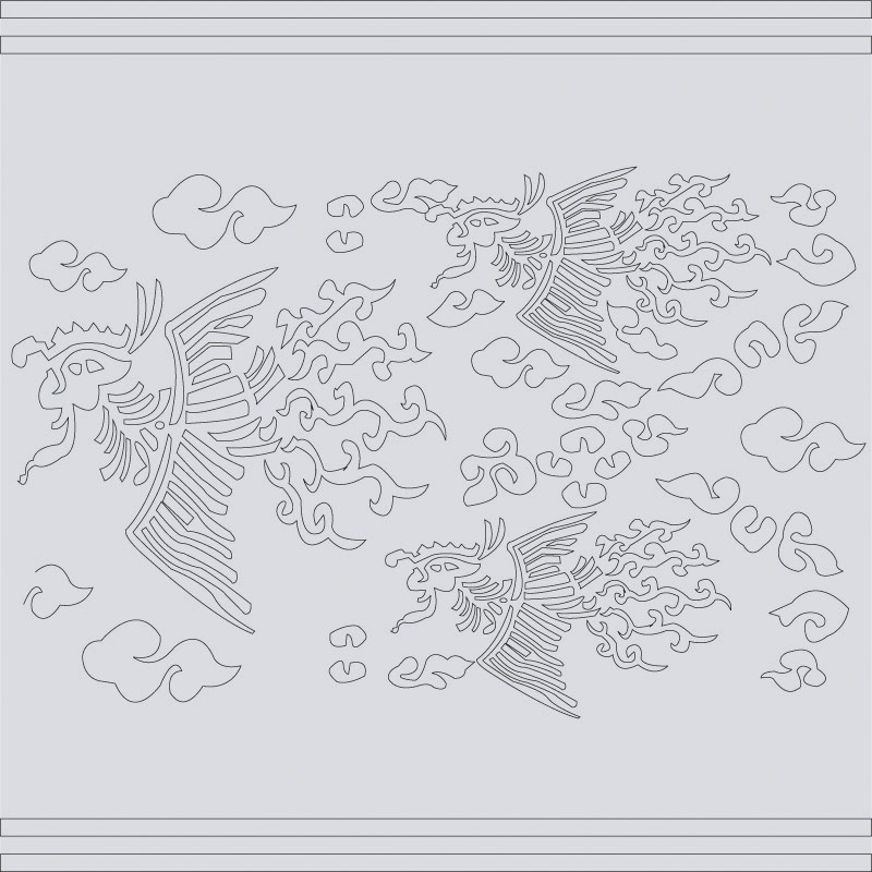 free vector Classical chinese auspicious phoenix map vector