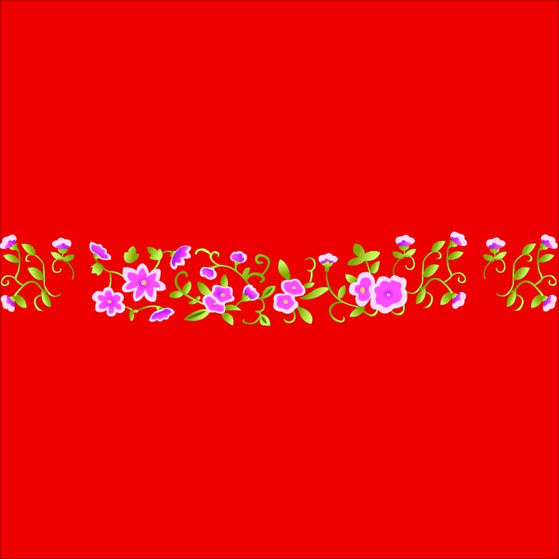 free vector Classical chinese auspicious small flowers vector