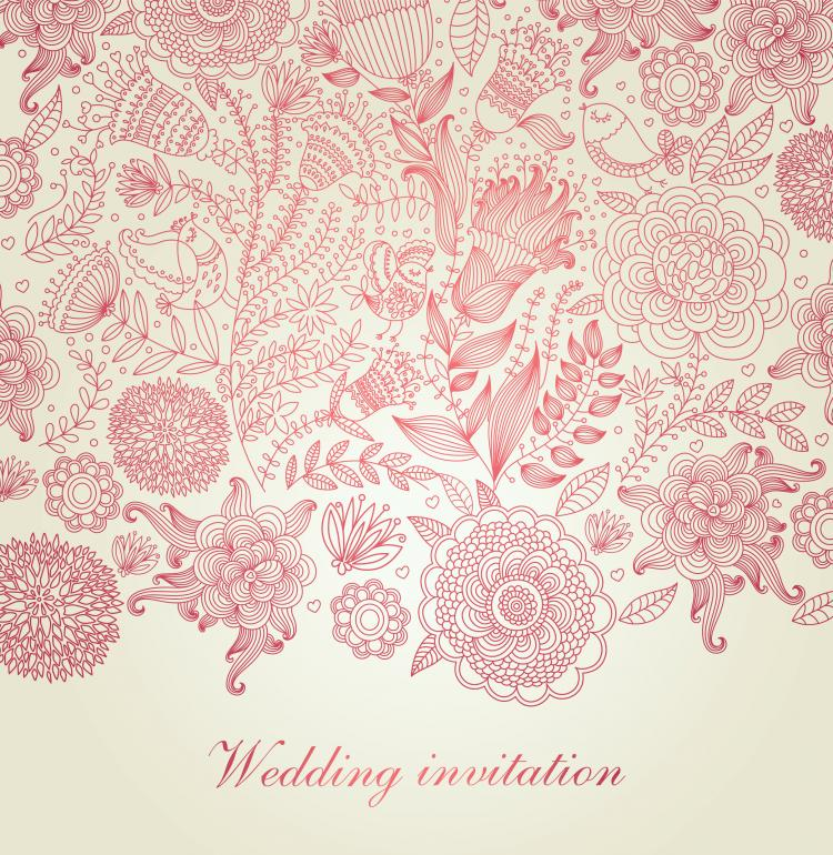 free vector Classical floral pattern 05 vector