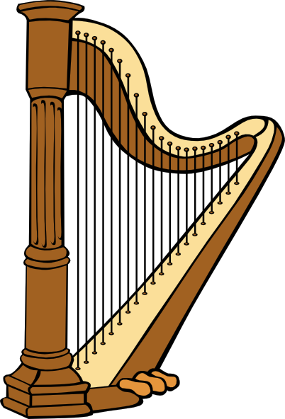 ... -classical-harp-clip-art_114328_Classical_Harp_clip_art_hight.png