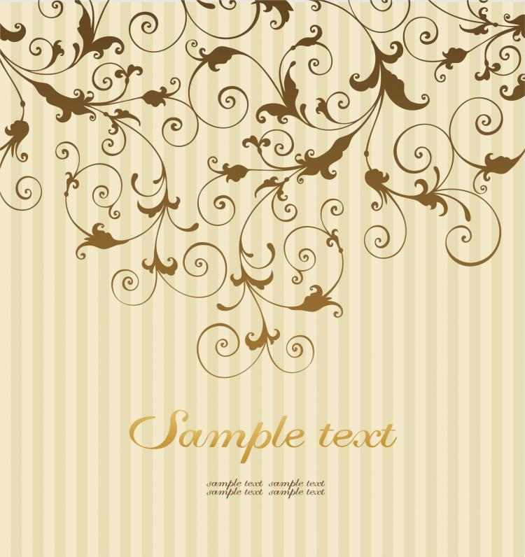 Classical pattern background 05 vector free vector 4vector for Background decoration images