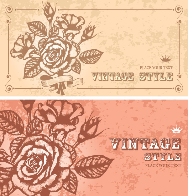 free vector Classical pattern vector flowers lace