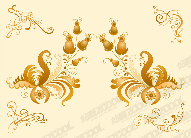 free vector Classical style pattern vector material