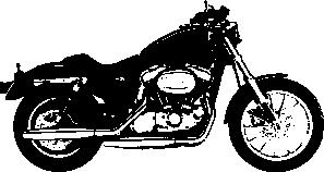 free vector Claydowling Harley Davidson Sportster clip art