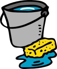 free vector Cleaning Bucket Sponge Water clip art