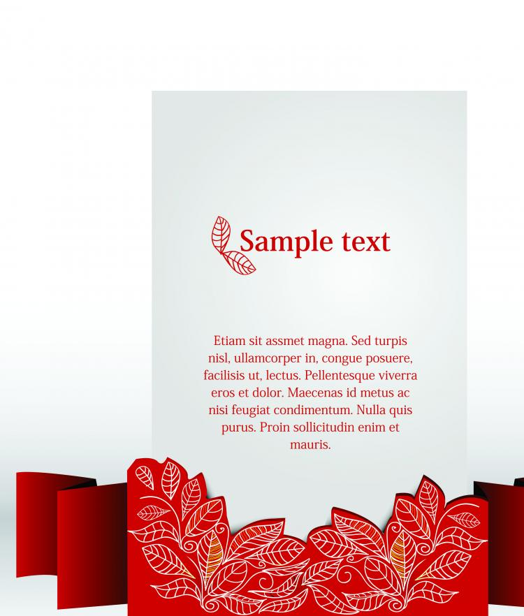 free vector Clip style text template vector 2