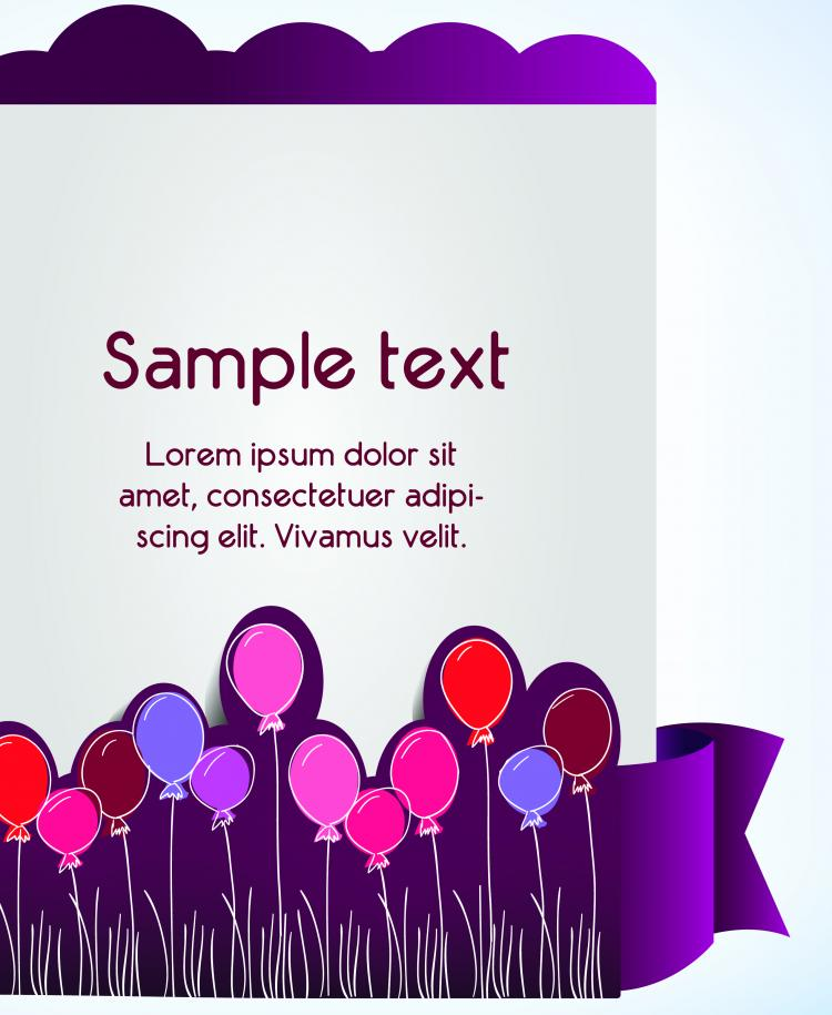 free vector Clip style text template vector 4