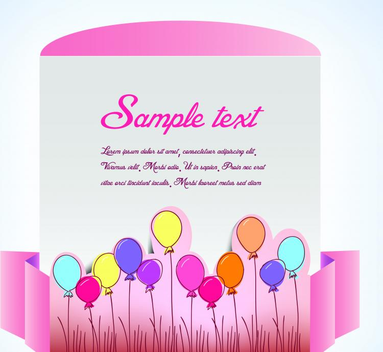 free vector Clip style text template vector 5