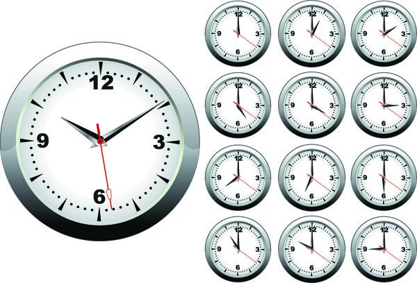 free vector Clock vector