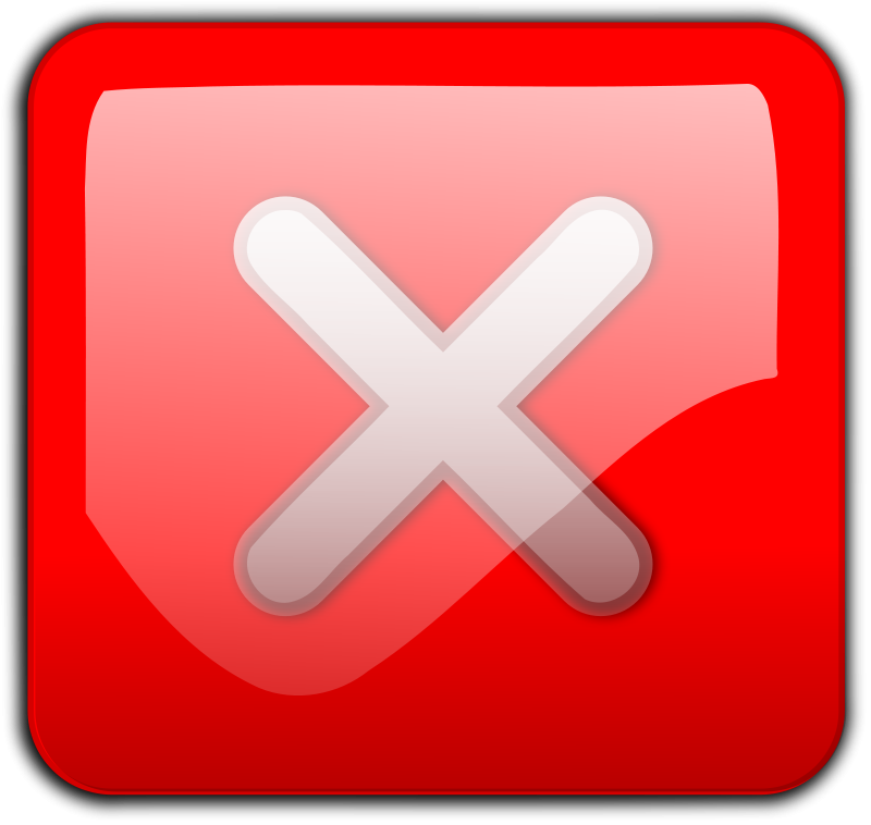 free vector Close Button red