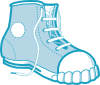 free vector Clothing Blue Boot clip art