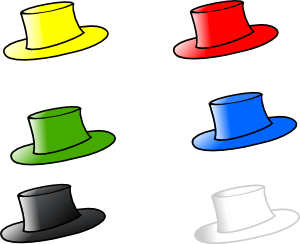 free vector Clothing Six Hats clip art