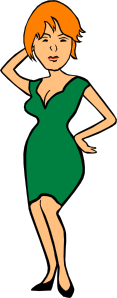 free vector Clothing Woman In Business Attire clip art