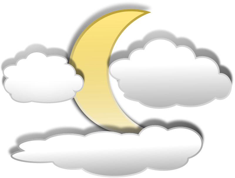 free vector Clouds and the Moon 3