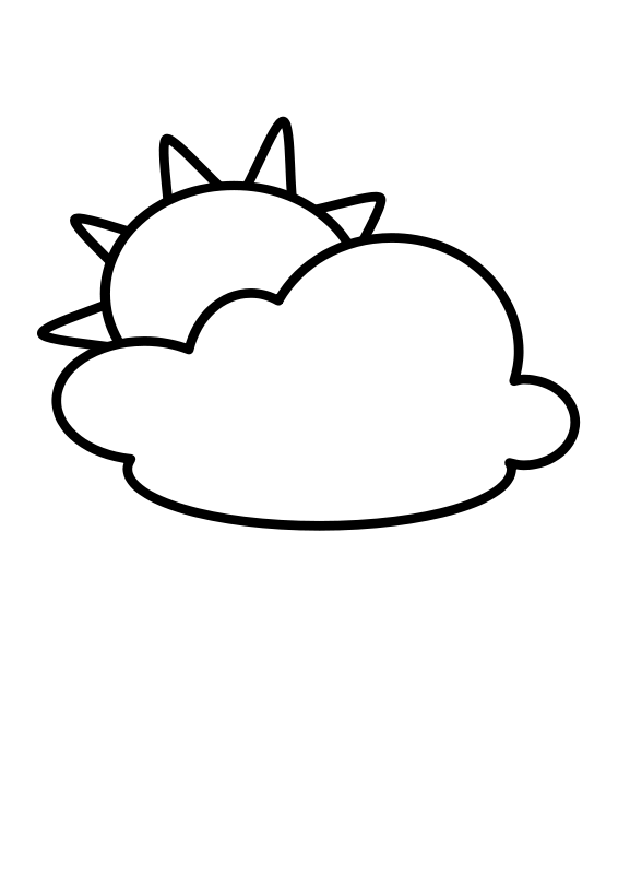 free vector Cloudy - Outline