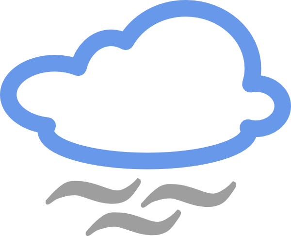 free vector Cloudy Weather Symbols clip art