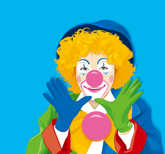 free vector Clown color material feature